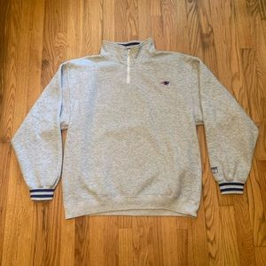 Vintage New England Patriots Zip Up Sweatshirt NFL